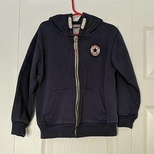 Boys Converse Zip Up Sweater Hoodie Size 5-6 Yrs